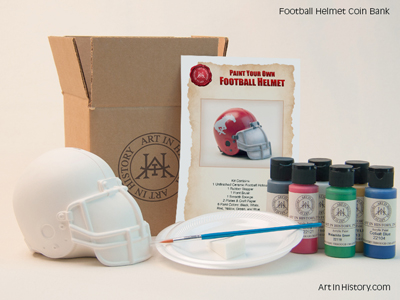Paint Your Own Football Helmet Bank