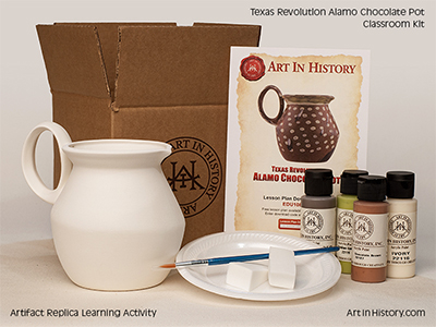 Texas Revolution - Alamo Chocolate Pot (1803-1845)