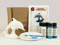 Paint Your Own Ceramic Dolphin Kits - 10 Kit Bundle