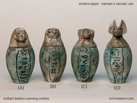 Ancient Egypt - Ramses II Canopic Jars (1279-1213 BC)