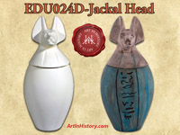 World History Bundle - 1 each of Canopic Jars A, B, C, and D: